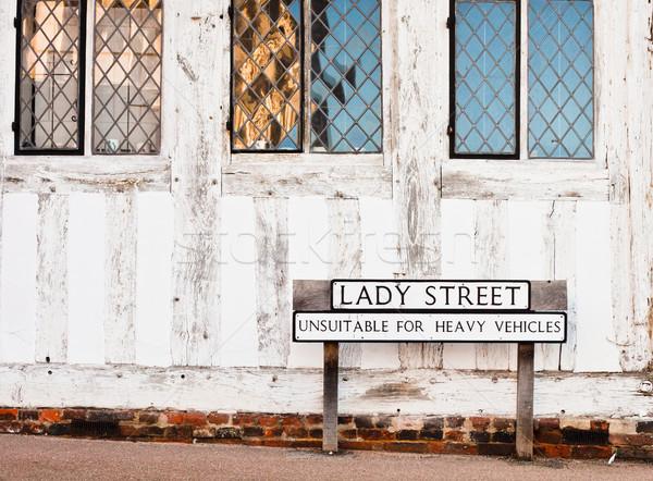 Lavenham street Stock photo © trgowanlock