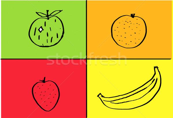 Fruit drawings Stock photo © trgowanlock