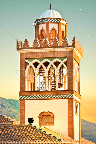 Andalucian minaret Stock photo © trgowanlock