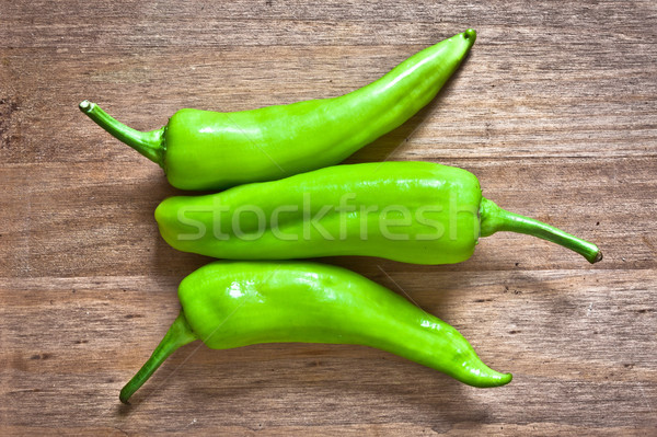 Green jalapeno peppers Stock photo © trgowanlock