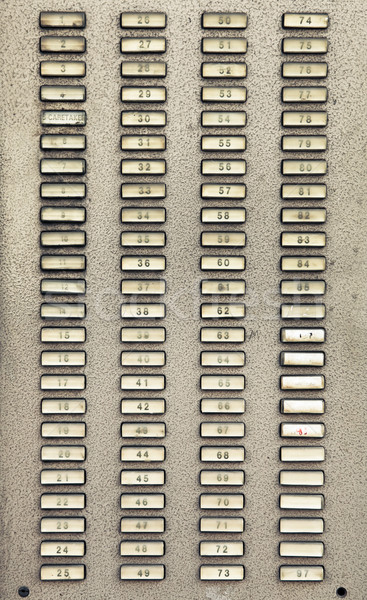 Apartment numbers Stock photo © trgowanlock
