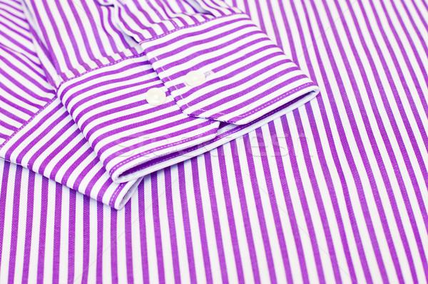 Shirt manchet formeel kleding witte Stockfoto © trgowanlock