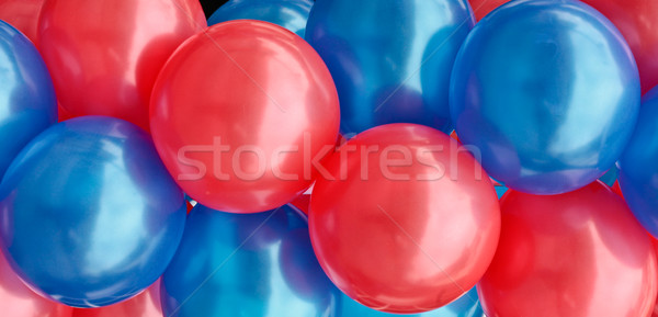 Ballonnen Rood Blauw licht vlag ballon Stockfoto © trgowanlock
