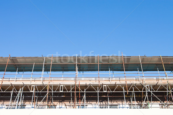строительная площадка строительные леса здании синий профессиональных Сток-фото © trgowanlock