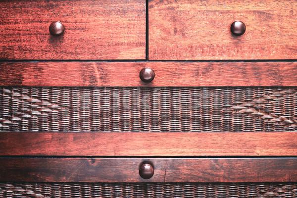 胸 マホガニー 木材 テクスチャ ストックフォト © trgowanlock