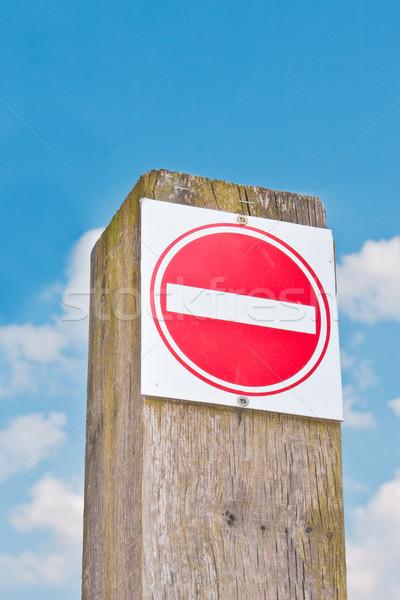 No entry sign Stock photo © trgowanlock