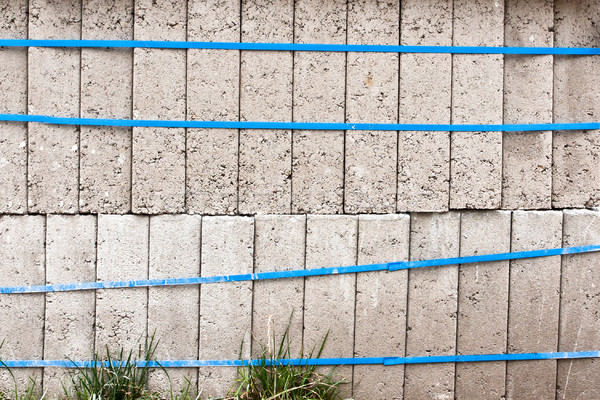 Beton kockák tömbházak egymásra pakolva építkezés kő Stock fotó © trgowanlock