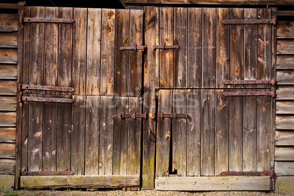 wooden door Stock photo © trgowanlock