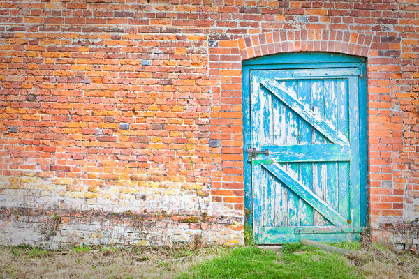 Deur Blauw ingesteld oneven hoek Rood Stockfoto © trgowanlock