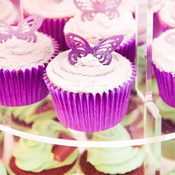 Beker gebak vers stand bruiloft Stockfoto © trgowanlock