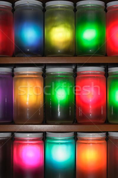 Colorato multicolore luce splendente design cucina Foto d'archivio © trgowanlock