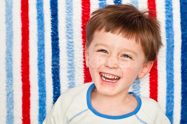Ridere bambino cute quattro anni ragazzo sorriso Foto d'archivio © trgowanlock