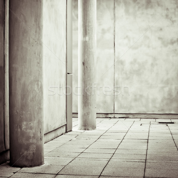 Beton uzay modern mimari Bina arka plan kentsel Stok fotoğraf © trgowanlock