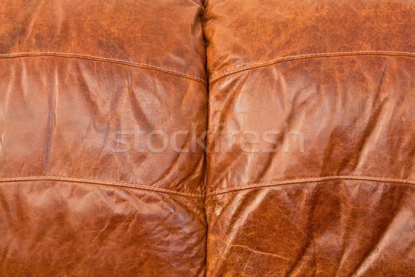 Pelle tappezzeria dettagliato immagine texture abstract Foto d'archivio © trgowanlock