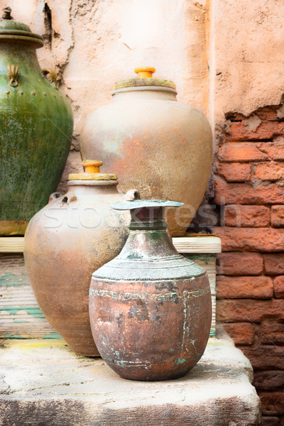 Stock photo: Old pots