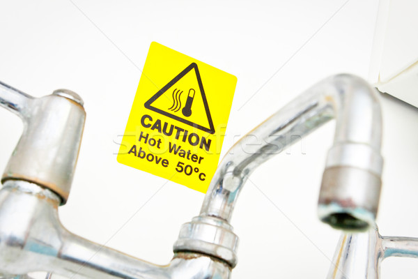 Hot water warning  Stock photo © trgowanlock
