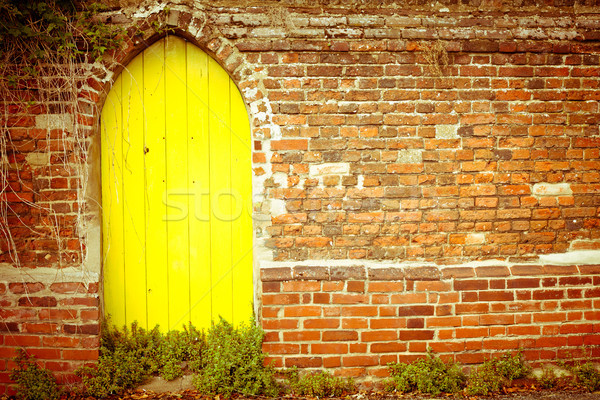 Yellow gateway Stock photo © trgowanlock