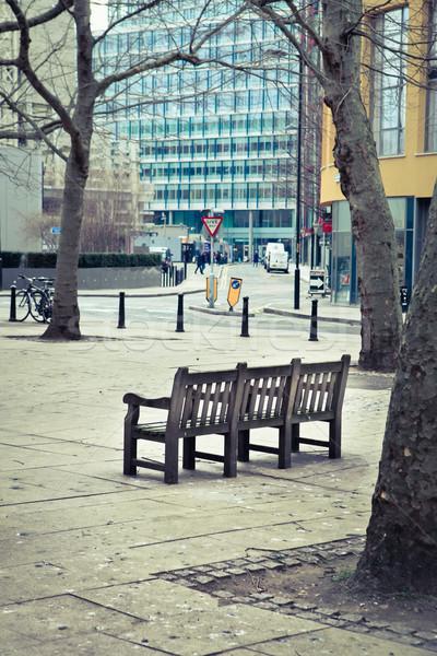 Park bench Stock photo © trgowanlock