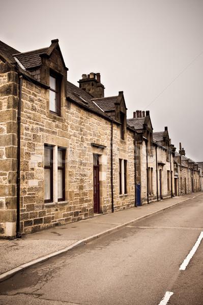 Scottish houses Stock photo © trgowanlock