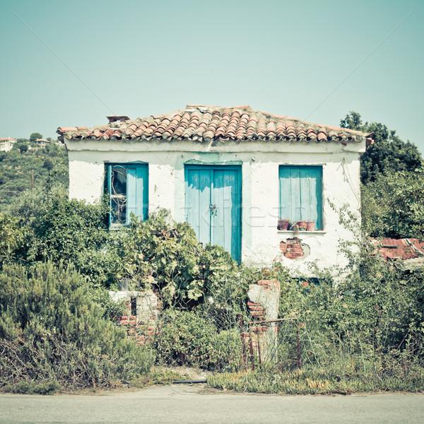 Greek house Stock photo © trgowanlock