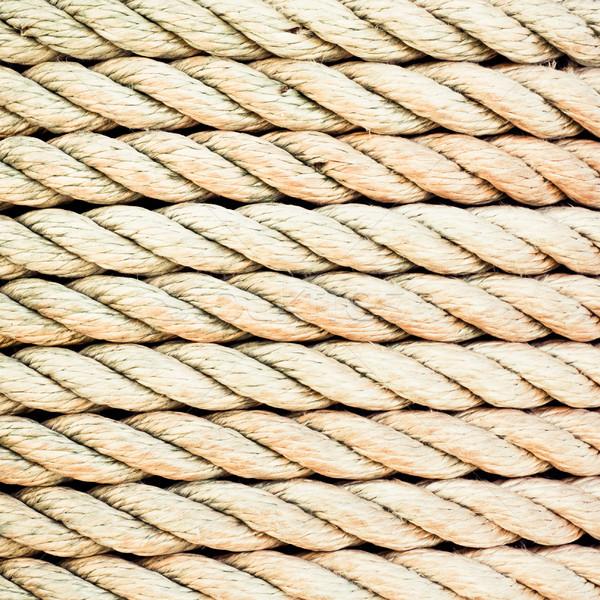 Corda detalhado imagem apertado textura indústria Foto stock © trgowanlock