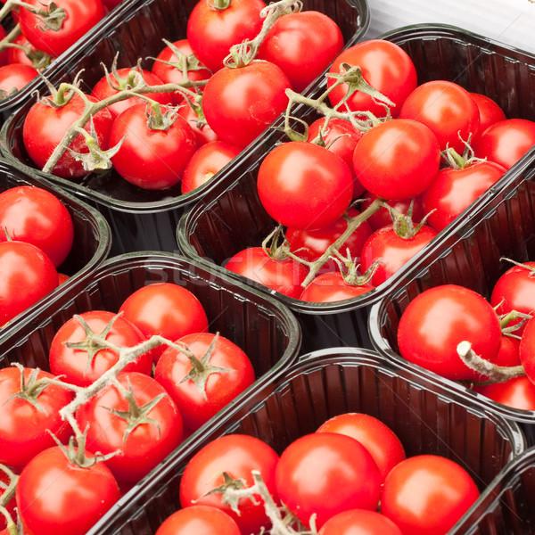 Вишневое помидоры черри продажи рынке красный сока Сток-фото © trgowanlock