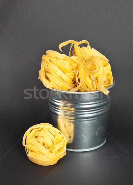 Tagliatelle kalay Metal mutfak makarna can Stok fotoğraf © trgowanlock