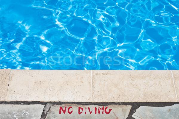 Poolside warming Stock photo © trgowanlock