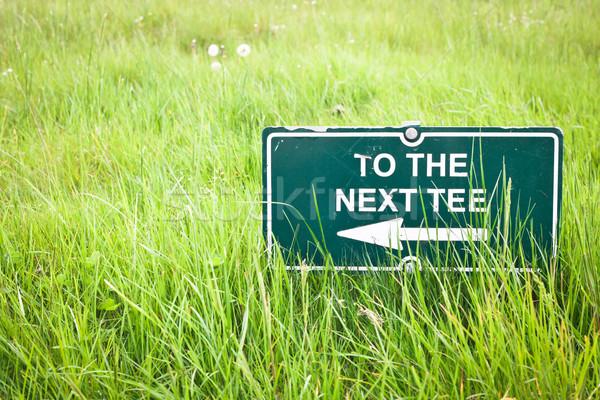 знак указывая гольф трава гольф лет Сток-фото © trgowanlock