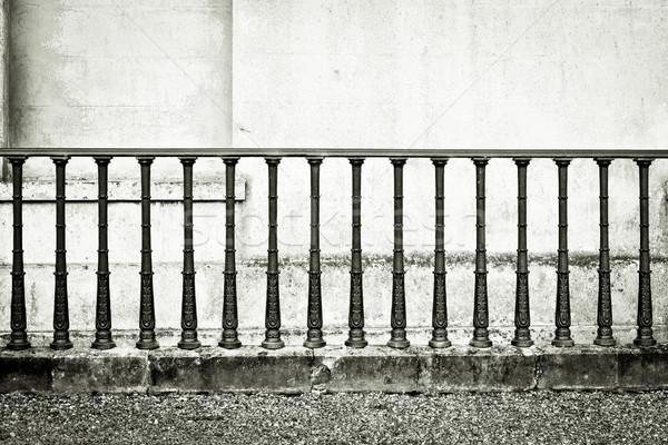 Monocromático imagem ferro stonewall casa parede Foto stock © trgowanlock