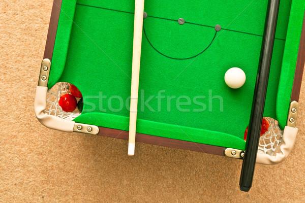 Biliardo piccolo piano sport tavola verde Foto d'archivio © trgowanlock