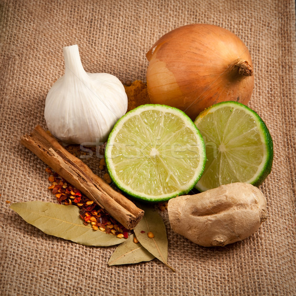 Ingrediënten ruw voedsel keuken groene koken Stockfoto © trgowanlock