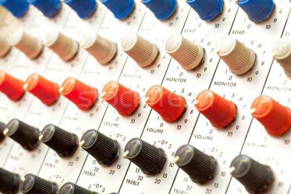 Amplifier dials Stock photo © trgowanlock