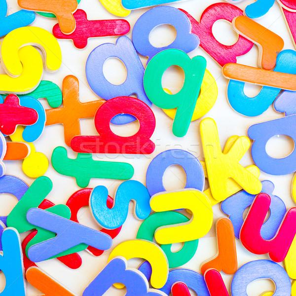 Cartas colorido verde azul jugar juego Foto stock © trgowanlock