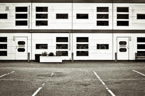 Magazijn buitenkant moderne kantoor auto gebouw Stockfoto © trgowanlock
