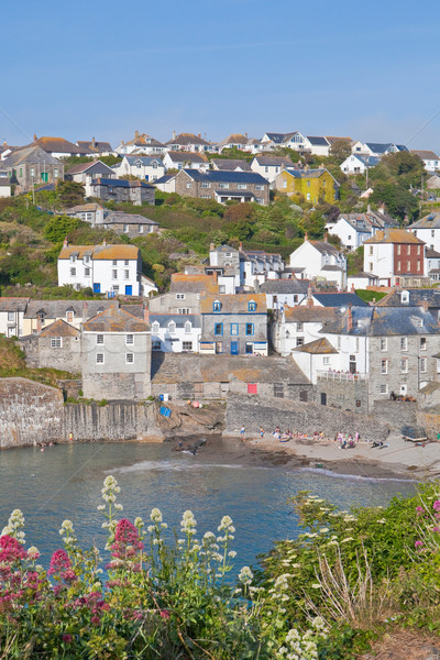 Haven cornwall strand water landschap Stockfoto © trgowanlock