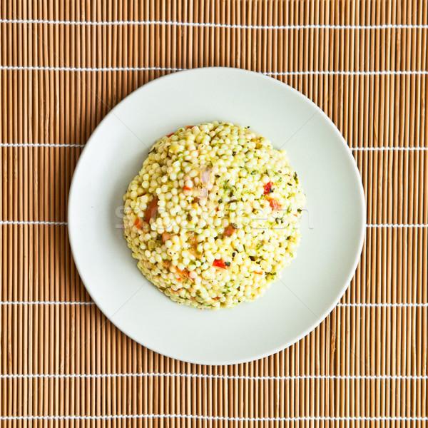 Salada prato fresco primavera comida conselho Foto stock © trgowanlock