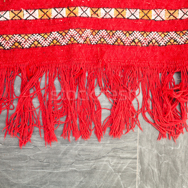 Rand heldere Rood vloer weefsel Stockfoto © trgowanlock