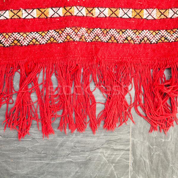 ковер край ярко красный полу ткань Сток-фото © trgowanlock