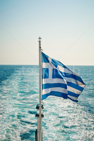 Greek flag Stock photo © trgowanlock