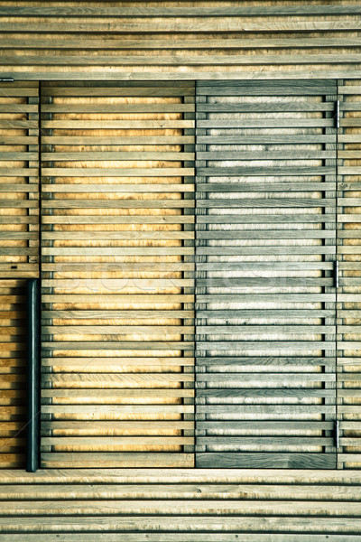 Houten textuur deur structuur cabine Stockfoto © trgowanlock