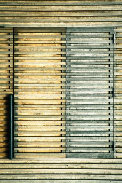 Wooden shutters Stock photo © trgowanlock