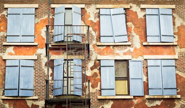 壁 古い 市 建物 ストックフォト © trgowanlock