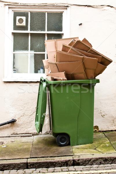 Green recycling bin Stock photo © trgowanlock