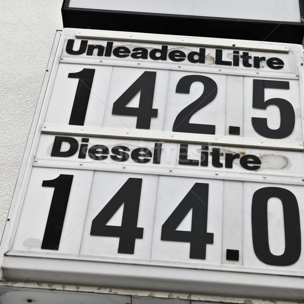 Petrol prices Stock photo © trgowanlock