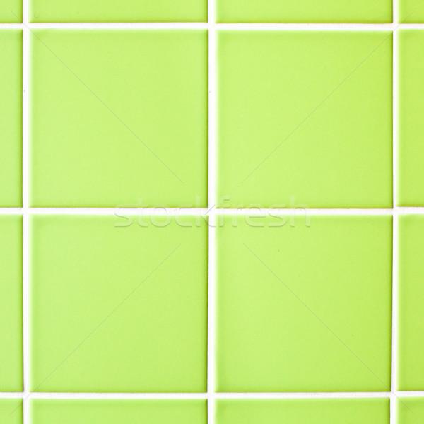 Zöld csempék fal háttér kő fehér Stock fotó © trgowanlock