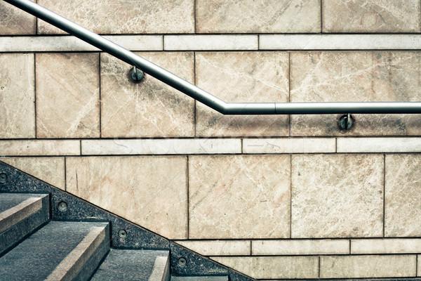 Piedra pasos moderna metal ciudad Foto stock © trgowanlock
