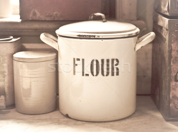 Flour tin Stock photo © trgowanlock