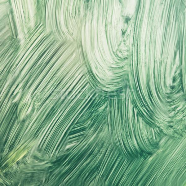 Groene verf geschilderd oppervlak gedetailleerd afbeelding Stockfoto © trgowanlock