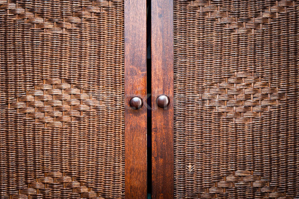 Wooden wardroabe Stock photo © trgowanlock